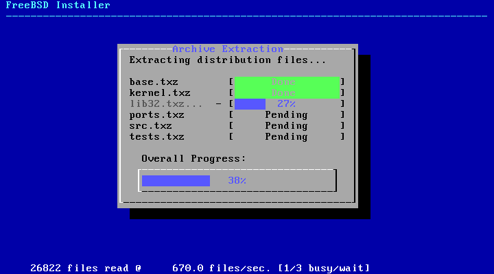 bsdinstall distfile extracting