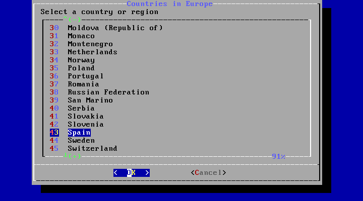 bsdinstall timezone country